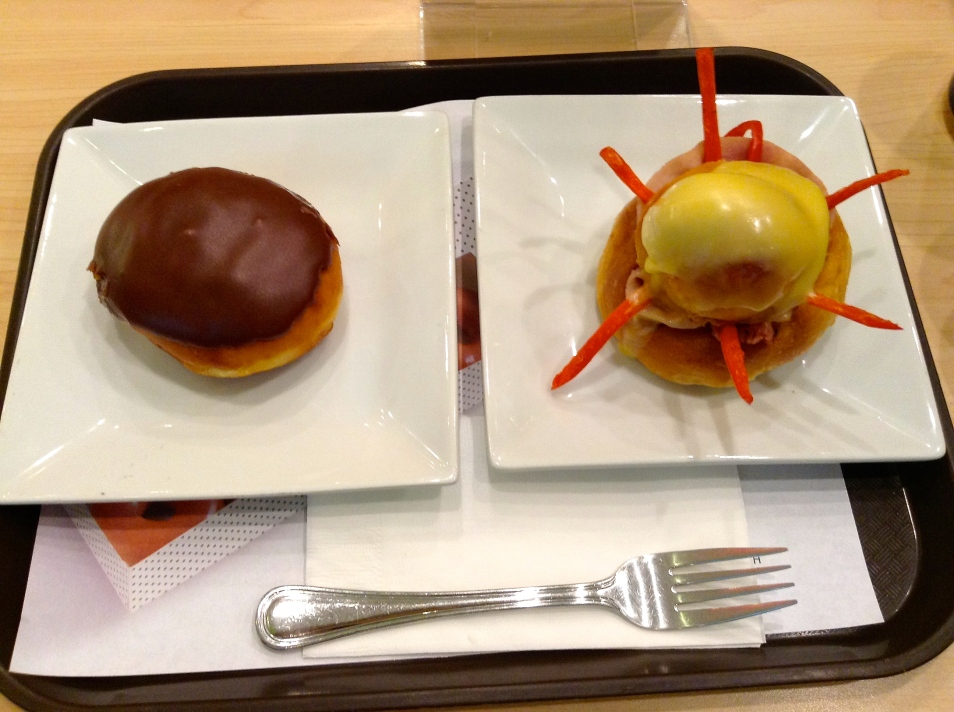 I had to order my fave, ice cream filled donut and Klassic Brioche Ham.