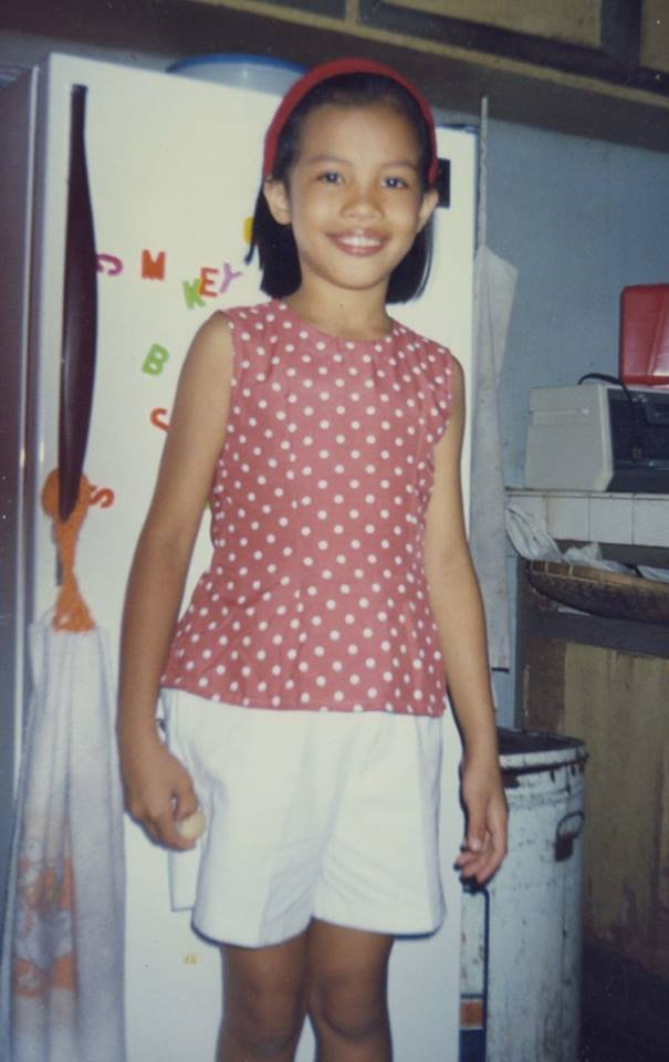 Me in my favourite shirt with polka dots. It was for an event at Holy Child and it was especially designed for that Christmas event. After the event I wore it like everyday.